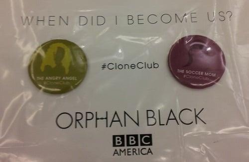 Orphan Black swag at SDCC 2013