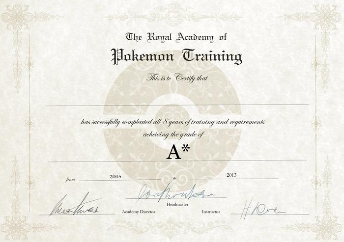 Pokemon Trainer Certificate