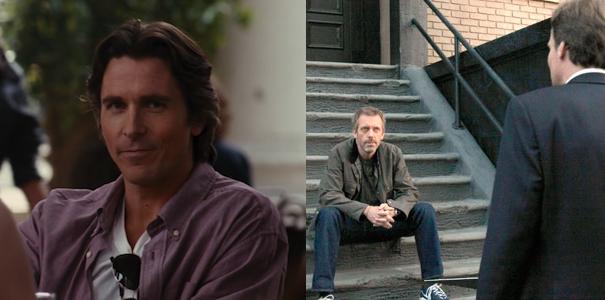 Christian Bale in The Dark Knight Rises (2012) / Hugh Laurie & Robert Sean Leonard in House Ep 8.22 'Everybody Dies'