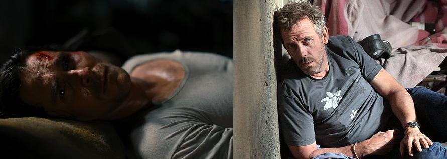 Christian Bale in The Dark Knight Rises (2012) / Hugh Laurie in House Ep 8.22 'Everybody Dies'