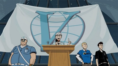 Screencap from The Venture Bros., What Color is Your Cleansuit?