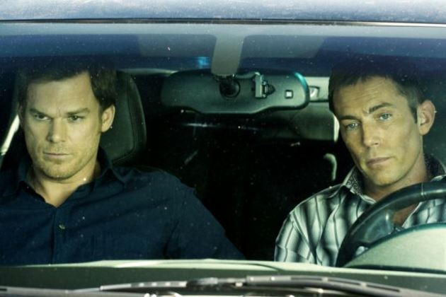 Michael C. Hall & Desmond Harrington in Dexter Ep 8.06 'A Little Reflection'