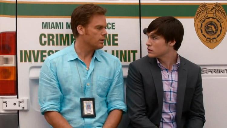Michael C. Hall & Sam Underwood in Dexter Ep 8.07 'Dress Code'