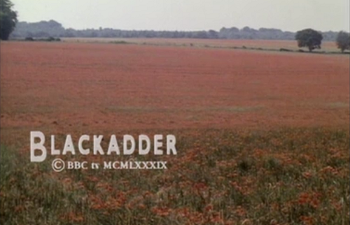 "Final shot of Blackadder's finale, ""Goodbyeee"""