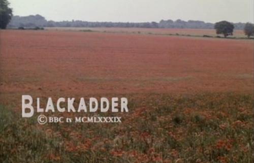 "Final shot of Blackadder's finale, ""Goodbyeee"""