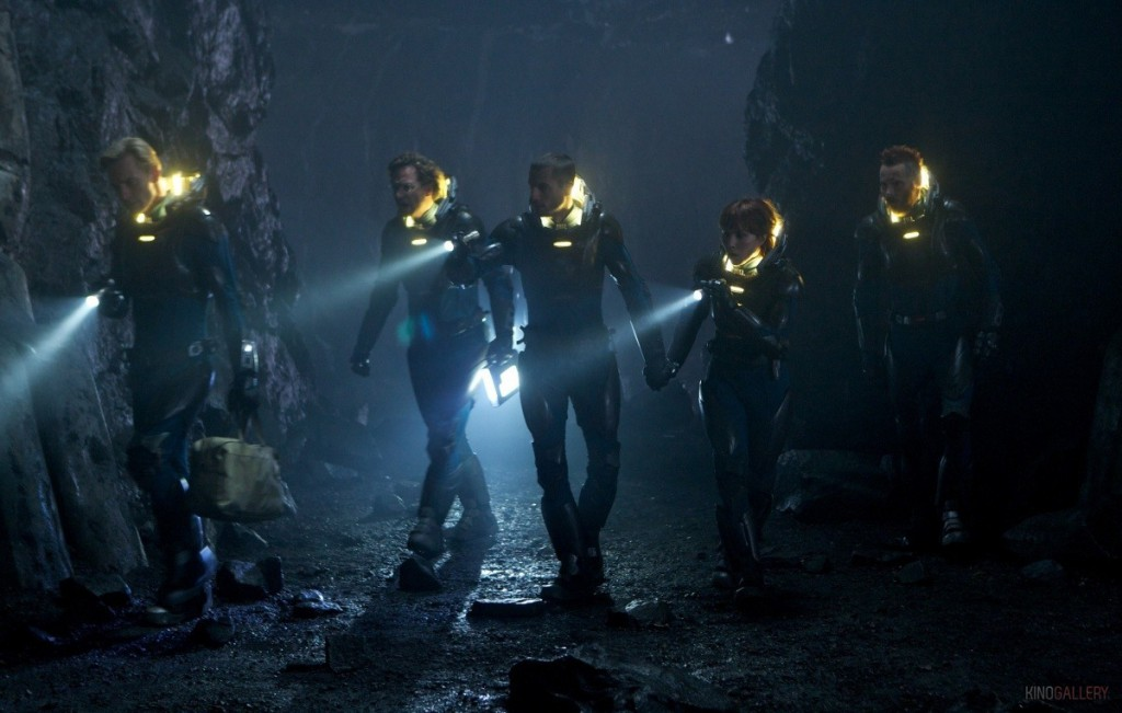 Michael Fassbender, Rafe Spall, Logan Marshall-Green, Noomi Rapace & Sean Harris in Prometheus (2012)
