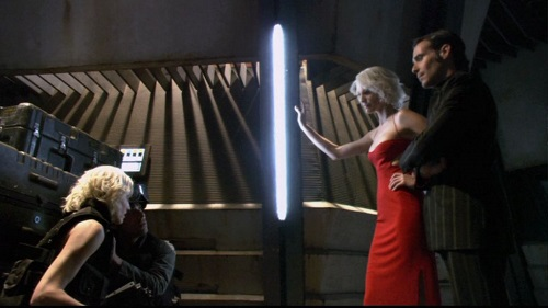 "Caprica and Baltar meet Six and Baltar in the Battlestar Galactica finale, ""Daybreak"""