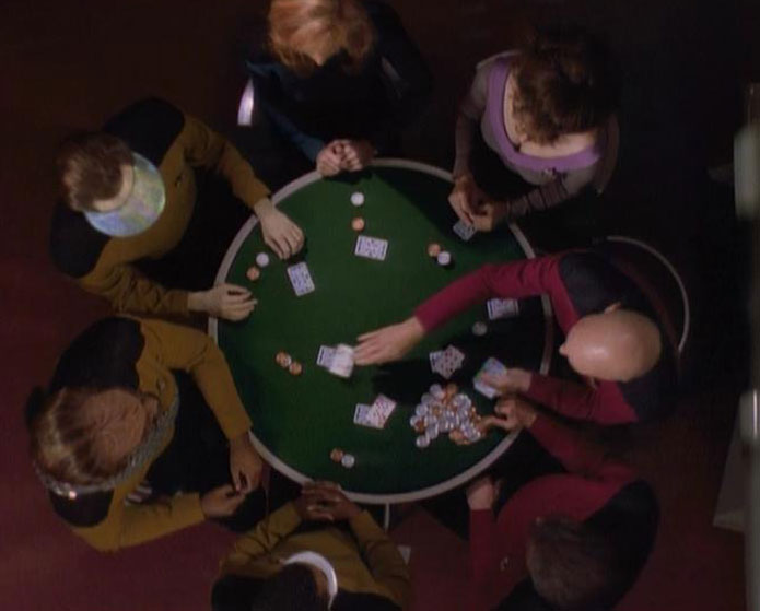 LeVar Burton, Brent Spiner, Gates McFadden, Marina Sirtis, Michael Dorn, Marina Sirtis in Star Trek: TNG Ep 7.25 'All Things'