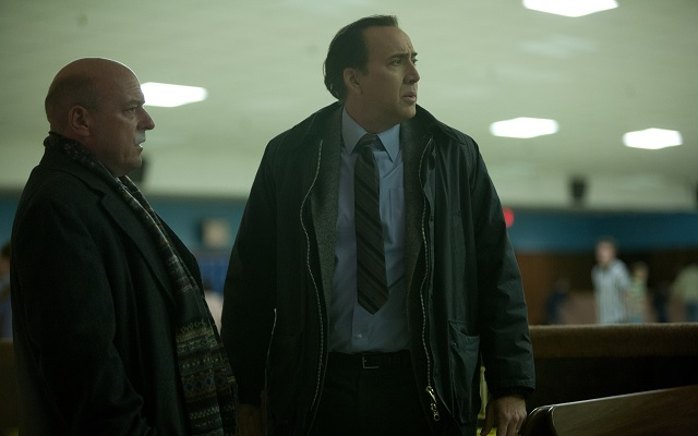 Nicolas Cage and Dean Norris in The Frozen Ground