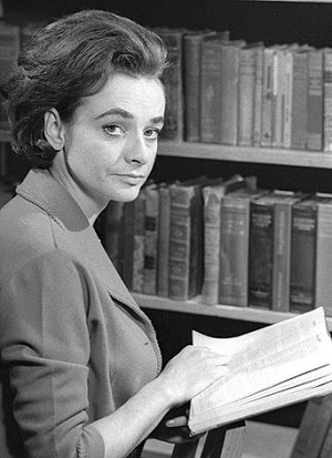 Barbara Wright, played by Jacqueline Hill, one of the First Doctor Companions