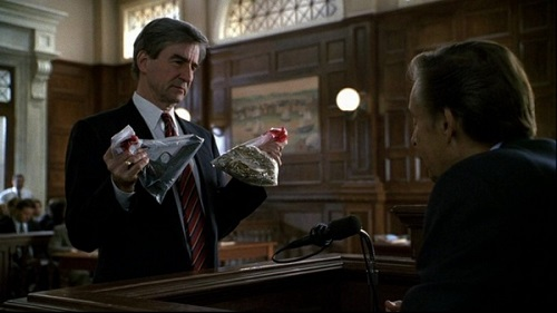 Sam Waterston as Jack McCoy in Law & Order, with Jerry Orbach as Lennie Briscoe
