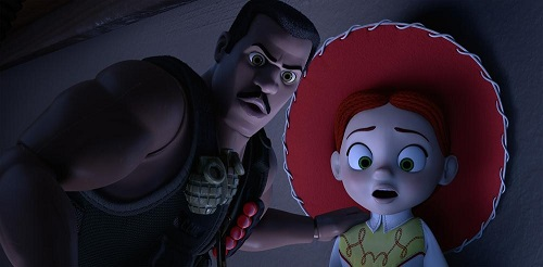 Combat Carl and Jessie in Toy Story of TERROR!
