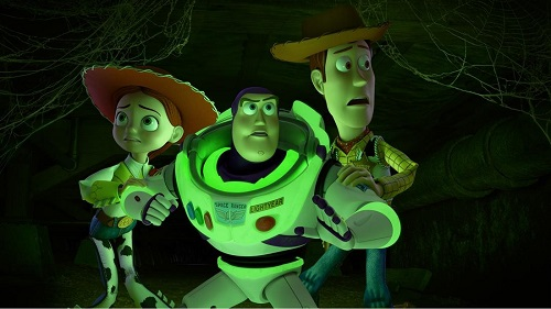 Jessie, Buzz, and Woody in Toy Story of TERROR!