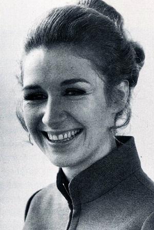 Caroline John as Doctor Who Companion Liz Shaw