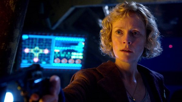 Claire Skinner as Madge Arwell on Doctor Who, The Doctor, The Widow and the Wardrobe