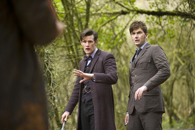 "Matt Smith as the Eleventh Doctor and David Tennant as the Tenth Doctor, ""The Day of the Doctor"""