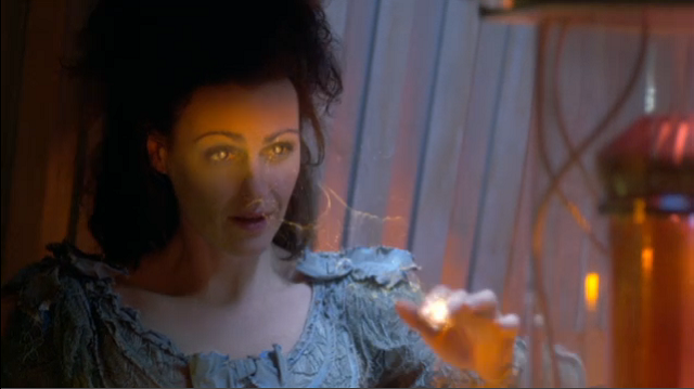 Suranne Jones as the soul of the TARDIS within the body of Idris
