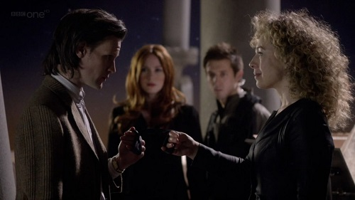 The Doctor, River, Amy, and Rory in The Wedding of River Song, Doctor Who