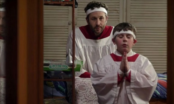 """Chris O'Dowd and David Rawle in Moone Boy, """"Godfellas"""""""