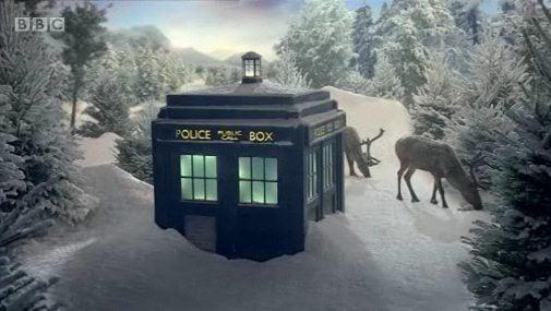 doctor-who-bbc-christmas-ident-tardis-snow