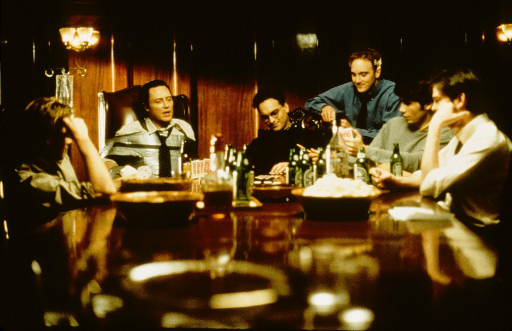 Sean Patrick Flanery, Christopher Walken, Johnny Galecki, Jay Mohr, Jeremy Sisto & Henry Thomas in Suicide Kings (1997)