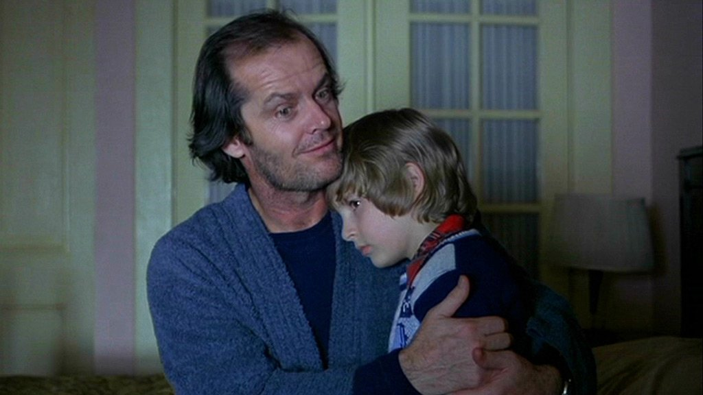 The contrast suggested Jack Nicholson & Danny Lloyd were acting in different films
