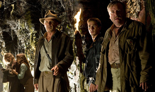 John Hurt, Karen Allen, Harrison Ford, Shia Labeouf & Ray Winstone in Indiana Jones & The Kingdom of the Crystal Skull (2008)