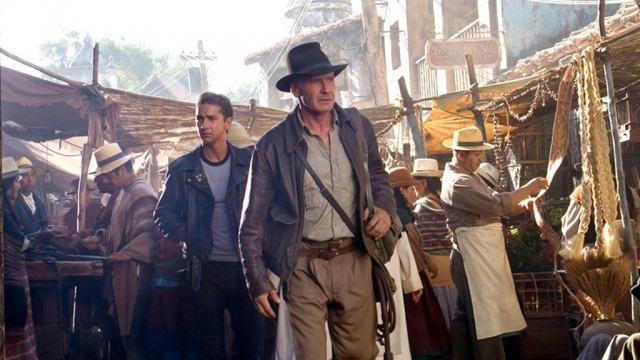 Shia Labeouf & Harrison Ford in Indiana Jones & The Kingdom of the Crystal Skull (2008)