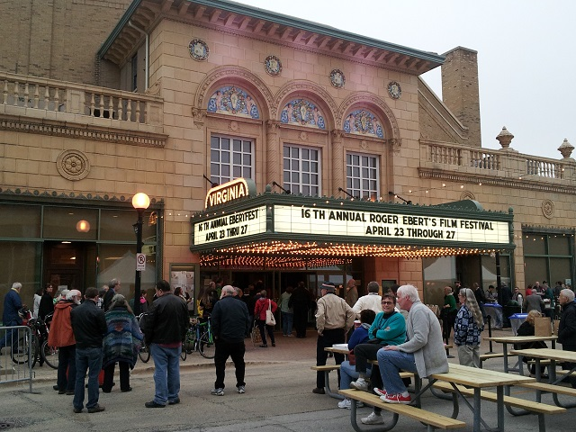 Marquee of the Virginia Theatre for Ebertfest 2014