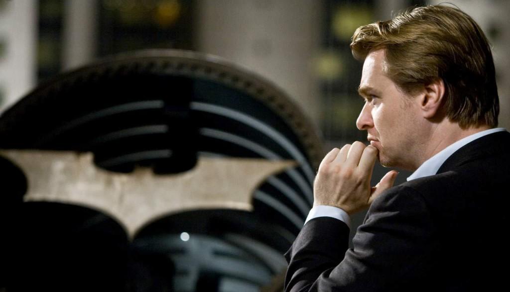 Christopher Nolan on set of The Dark Knight (2008)