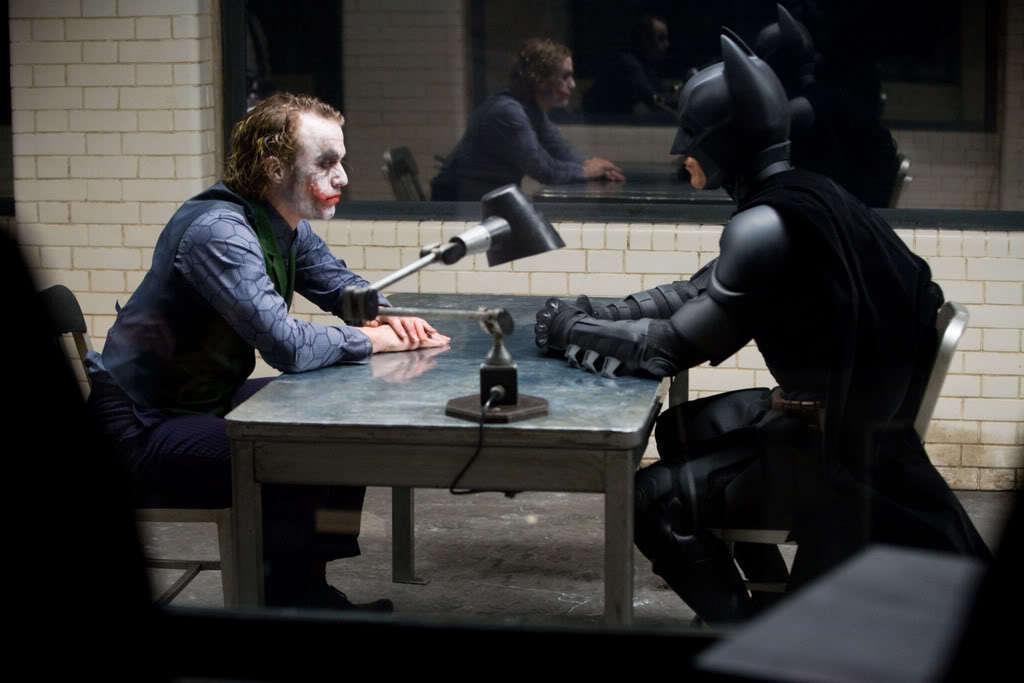 Heath Ledger & Christian Bale in The Dark Knight (2008)