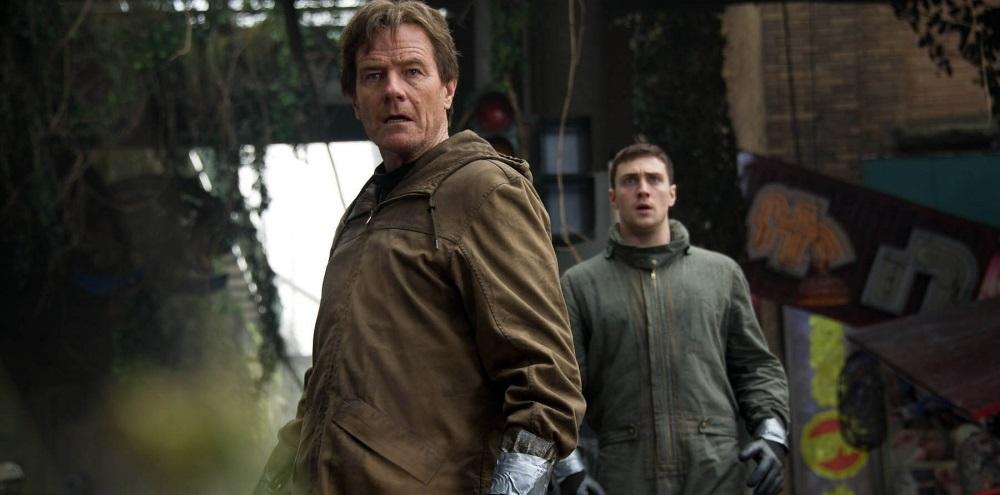 Bryan Cranston & Aaron Taylor-Johnson in Godzilla (2014)