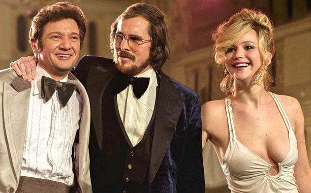 Jeremy Renner, Christian Bale & Jennifer Lawrence in American Hustle (2013)