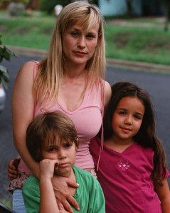 Patricia Arquette, Ellar Coltrane, and Lorelei Linklater in Boyhood