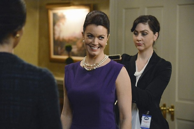 Bellamy Young as Mellie Grant on Scandal