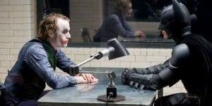 Heath Ledger & Christian Bale in The Dark Knight (2008)
