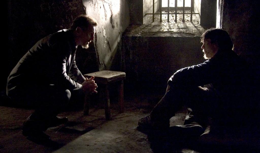 Liam Neeson & Christian Bale in Batman Begins (2005)