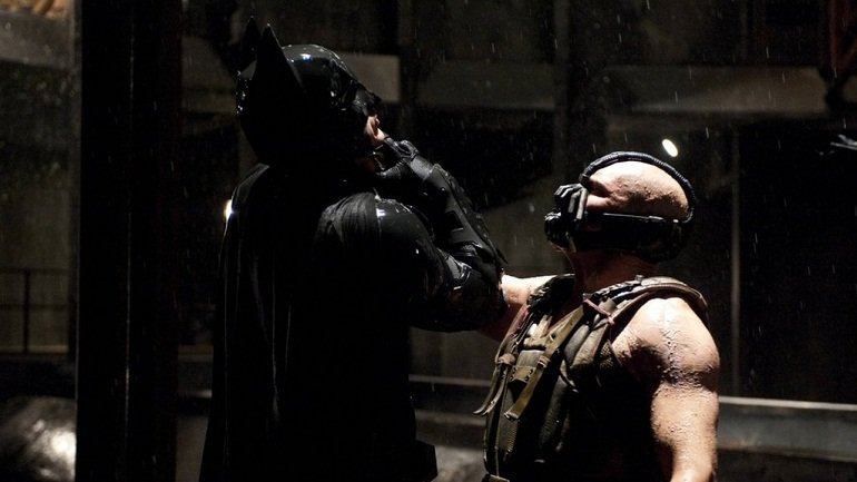 Christian Bale & Tom Hardy in The Dark Knight Rises (2012)