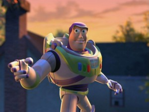 Buzz Lightyear; cocky Space Ranger, apparent clairvoyant