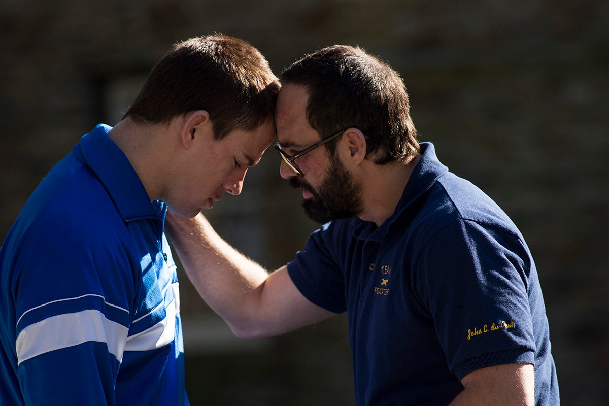 "Mark Ruffalo and Channing Tatum in ""Foxcatcher"""