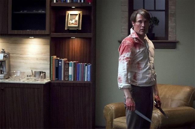 Mads Mikkelsen as Hannibal Lecter in the season 2 finale, Mizumono
