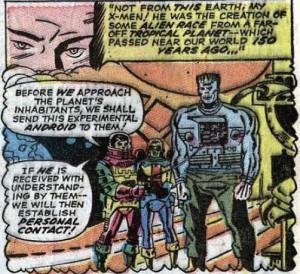 X-Men #40 - alien Frankenstein