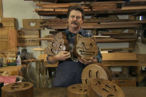 Nick Offerman Presents His Handcrafted Wood Emojis - PopOptiq