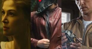Rosamund Pike in Gone Girl (2014) / Chris Pratt in Guardians of the Galaxy (2014) / Matthew McConaughey in Interstellar (2014)