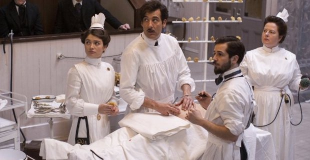 Eve-Hewson-Clive-Owen-Zuzanna-Szadkowski-and-Michael-Angarano-in-The-Knick-season-1-episode-6