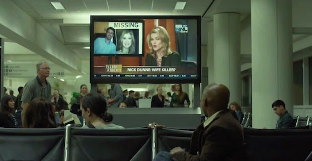 Ben Affleck, Rosamund Pike & Missi Pyle in Gone Girl (2014)