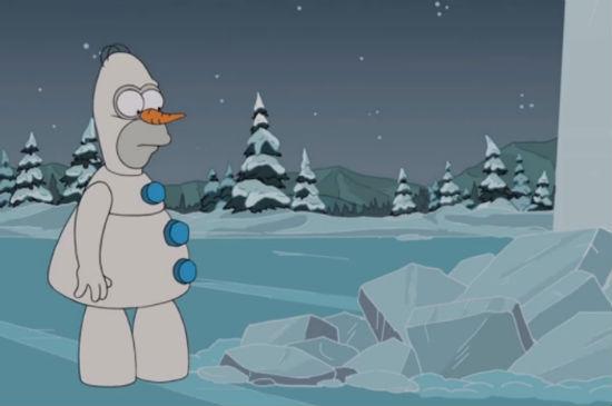 The-Simpsons-Frozen-parody