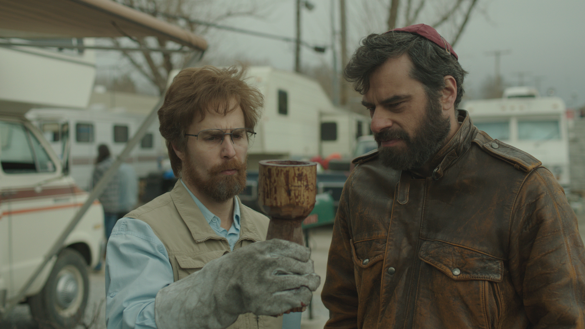 """""""Don Verdean"""" featuring Sam Rockwell and Jermaine Clement. Courtesy of the Sundance Institute"""