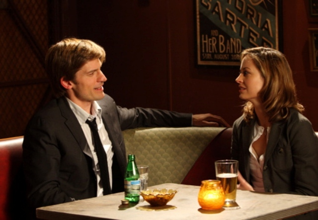 """NEW AMSTERDAM:  John Amsterdam (Nikolaj Coster-Waldau, L) gets to know the woman he thinks will make him mortal, Dr. Sara Dillane (Alexie Gillmore, R), in the NEW AMSTERDAM episode """"Keep the Change"""" airing Monday, March 24 (9:00-10:00 PM ET/PT) on FOX. CR: Eric Liebowitz/FOX"""
