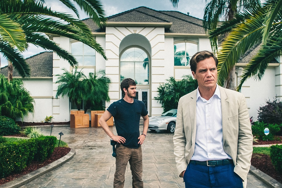 "Michael Shannon and Andrew Garfield in ""99 Homes"""